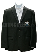 Zeta Beta Tau Blazer Jacket with Crest, Black