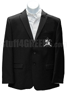 Zeta Phi Zeta Men's Blazer Jacket with Crest, Black