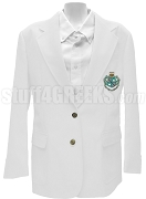 Zeta Tau Alpha Blazer Jacket with Crest, White