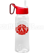 Kappa Alpha Psi Greek Letter Water Bottle with Founding Year and Kappa Kane Man