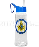 Mason Water Bottle with Square and Compass
