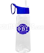 Phi Beta Sigma Greek Letter Water Bottle with Founding Year and Ax