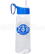 Zeta Phi Beta Greek Letter Water Bottle with Founding Year and Dove