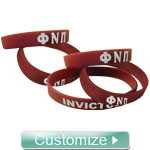 Custom Silicone Wristbands (Sold in Sets of 5)