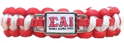 Sigma Alpha Iota Greek Letter Braided Sports Bracelet, Red - Allow 4-6 Weeks Production Time