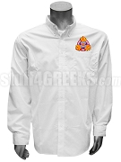 Gamma Kappa Phi Men's Button Down Shirt with Crest, White