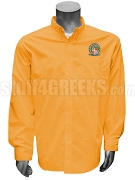 Gamma Pi Sigma Button Down Shirt with Crest, Orange