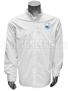 Jack & Jill Men's Button Down Shirt with Crest, White