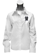 Kappa Alpha Pi Ladies Button Down Shirt with Crest, White