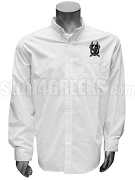 Kappa Alpha Pi Men's Button Down Shirt with Crest, White