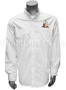 Kappa Alpha Psi Crest Button Down Shirt, White