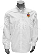 Kappa Psi Men's Button Down Shirt with Crest, White