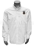 Omega Delta Button Down Shirt with Crest, White