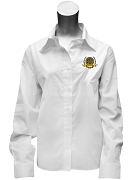 Phi Gamma Sigma Ladies Button Down Shirt with Crest, White