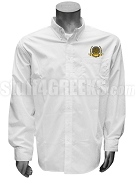 Phi Gamma Sigma Men's Button Down Shirt with Crest, White