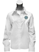 Phi Kappa Phi Ladies Button Down Shirt with Crest, White