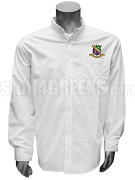 Phi Sigma Theta Men's Button Down Shirt with Crest, White