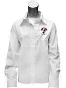 Sigma Alpha Epsilon Pi Button Down Shirt with Crest, White