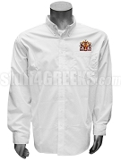 Sigma Phi Delta Button Down Shirt with Crest, White