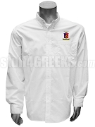 Sigma Phi Epsilon Button Down Shirt with Crest, White
