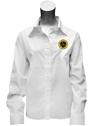 Tau Gamma Sigma Button Down Shirt with Crest, White