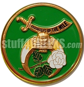 Daughters of the Nile Round Crest Car Emblem