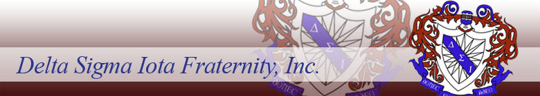 Delta Sigma Iota Fraternity clothing, custom apparel, merchandise, gifts, and accessories by stuff4GREEKS, the most exclusive Greek store in the world.