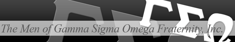 Gamma Sigma Omega Fraternity clothing, custom apparel, merchandise, gifts, and accessories by stuff4GREEKS, the most exclusive Greek store in the world.