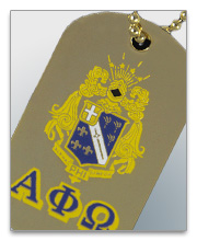 Alpha Phi Omega Dog Tags