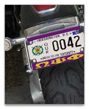Motorcycle License Tag Frames