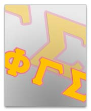 Phi Gamma Sigma Sorority Dog Tags