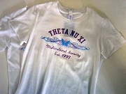 Theta Nu Xi Multicultural Sorority Inc. Screen Printed T-Shirt, White