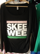 Alpha Kappa Alpha SKEE WEE Off Shoulder Shirt, Black