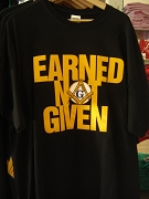 Mason Earned Not Given Screen Printed T-Shirt, Black