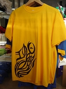 ONLY ONE LEFT: Iota Phi Theta Tribal Mascot shirt, Yellow Gold, Size M - MAKE AN OFFER