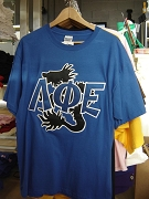 Lambda Phi Epsilon Dragon Letter Shirt, Blue
