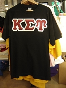 ONLY ONE LEFT: Kappa Sigma Upsilon letter shirt, Black, Size L - MAKE AN OFFER
