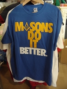 MASONS DO IT BETTER T-Shirt, Royal Blue - EMBROIDERED with Lifetime Guarantee