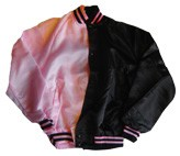 Blank Two-Tone Baseball Jacket