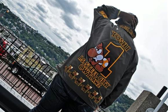 Iota Phi Theta Yoshi from Super Mario Bros Line Jacket