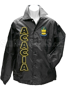 Acacia Crest Line Jacket with Organization Name, Black