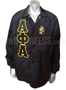 Alpha Phi Alpha Crossing Line Jacket with Letters and Crest