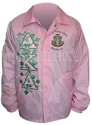 Pink Alpha Kappa Alpha Ivy Vines and Crest Line Jacket