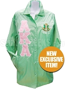 Apple Green AKA Line Jacket with Embellished Alpha Kappa Alpha  Crest