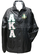 Alpha Kappa Alpha Greek Letter Line Jacket with Crest, Black