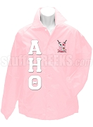 Alpha Eta Theta Greek Letter Line Jacket with Crest, Pink