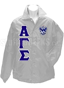 Alpha Gamma Sigma Greek Letter Line Jacket with  Crest, Gray