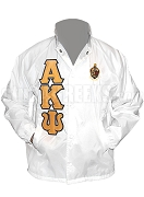 Alpha Kappa Psi Line Jacket with Greek Letters and Crest, White