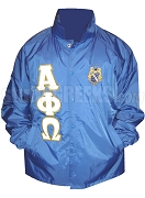 Alpha Phi Omega Line Jacket with Greek Letters and Crest, Royal Blue