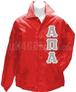 Alpha Pi Lambda Greek Letter Line Jacket, Red